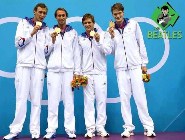 Franceses ganham o 4X100m na natação (Foto: Getty Images)