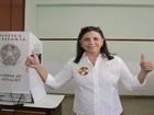 Roseana Sarney vota em São Luís (Biaman Prado/O Estado)