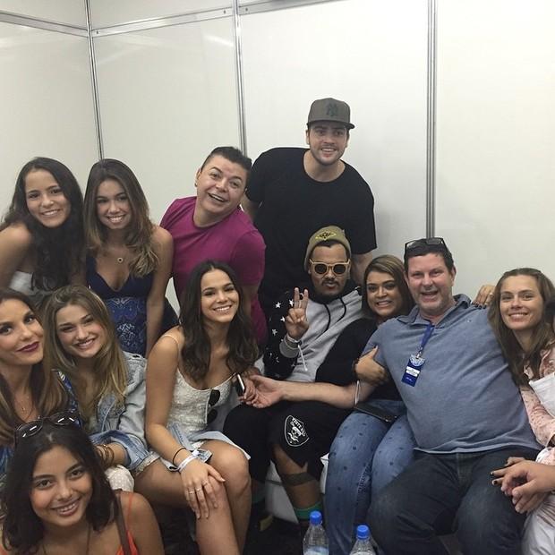 Famosos no show de Ivete (Foto: Reprodução/Instagram)