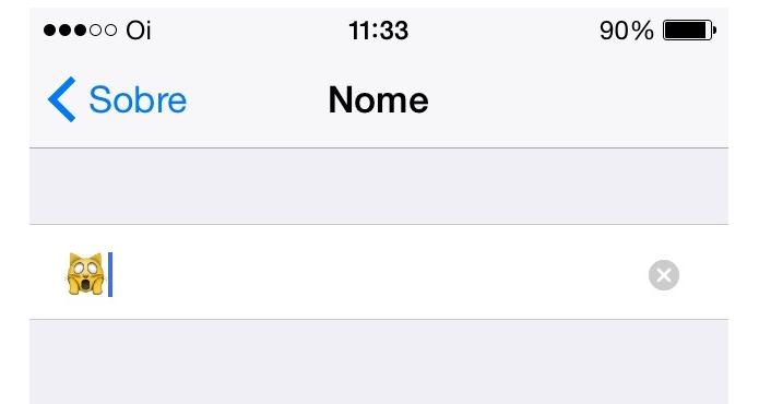 Colocando um emoji no nome do iPhone (Foto: Reprodução/Edivaldo Brito)
