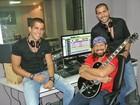 Bell Marques acompanha gravação de música dos filhos para o carnaval