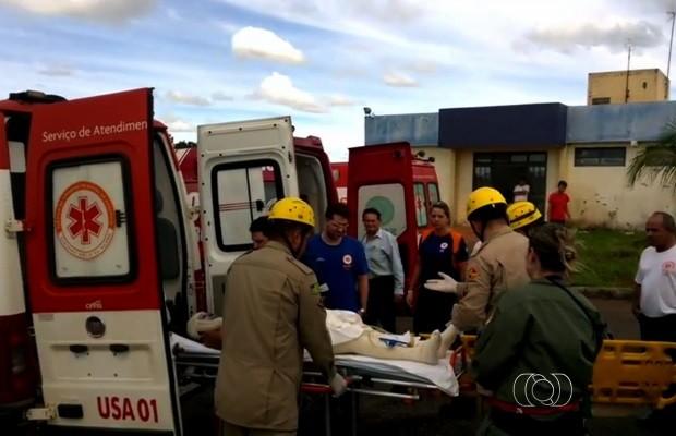 Casal queimado Aragarças GOiânia, Goiás (Foto: Reprodução/TV Anhanguera)