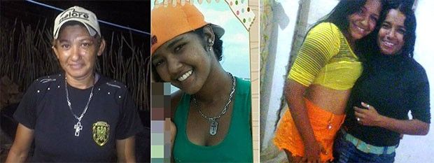 Patrícia Regina Nunes (dona do estabelecimento), Cássia Rayane Santiago Silva, Maria Daiane Batista e Antônia Francisca Bezerra Vicente são quatro das cinco vítimas (Foto: Divulgação/PM)