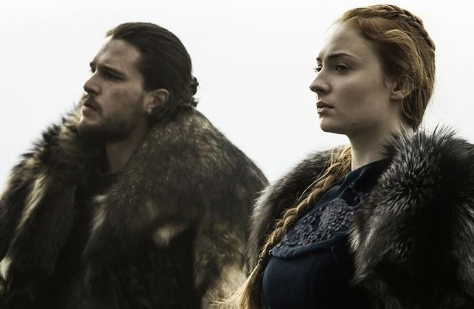 """Jon Snow e Sansa Stark, de """"Game of Thrones"""" (Foto: Reprodução)"""