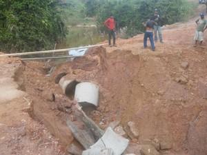 Localidades mais afetadas foram a Segunda Linha do Ribeirão, além das Linhas 4-C, 6 e 30-B do distrito de Nova Dimensão (Foto: Adalto Ferreira/Arquivo Pessoal)