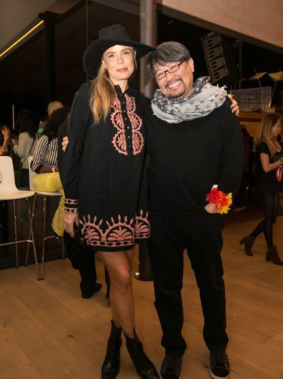 A atriz Alexia Dechamps e Lee Ful Kuang também prestigiaram a noite (Foto: Rafael Campos)