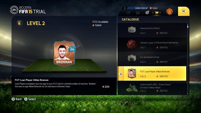 Acesse o Catálogo para comprar mais jogadores (Foto: Reprodução/Murilo Molina)