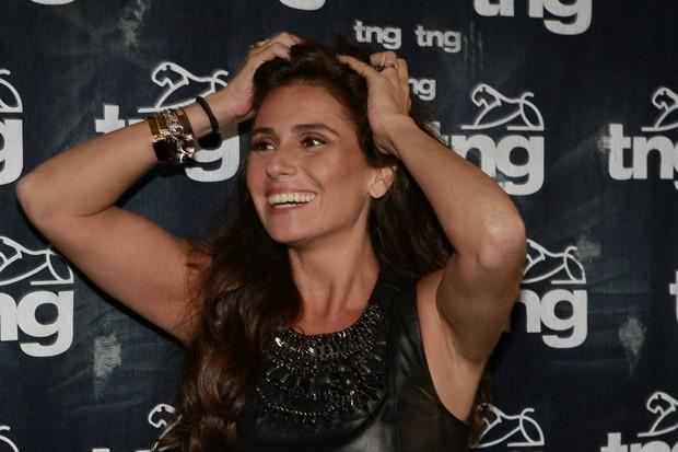 Giovanna Antonelli no Fashion Rio (Foto: Isac Luz / Ego)