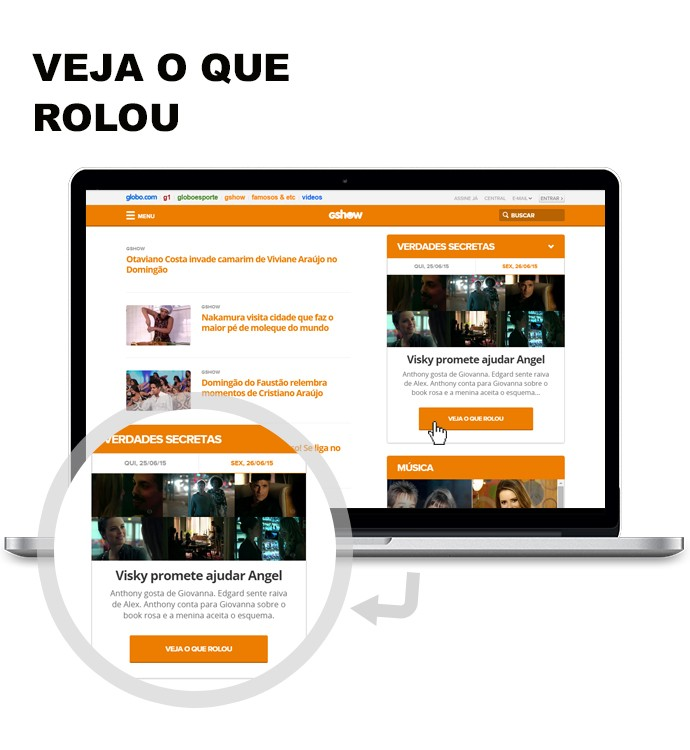 Veja o que rolou Gshow (Foto: Gshow/Rede Globo)