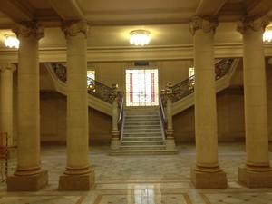 Escadaria do Centro Cultural Banco do Brasil Belo Horizonte (Foto: Vander André Araújo/Divulgação)