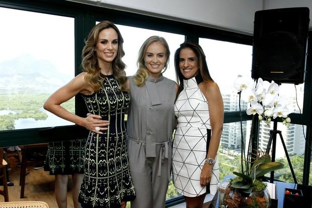 Ana Furtado, Angélica e Daniela Alvarenga (Foto: Alex Palarea / AgNews)