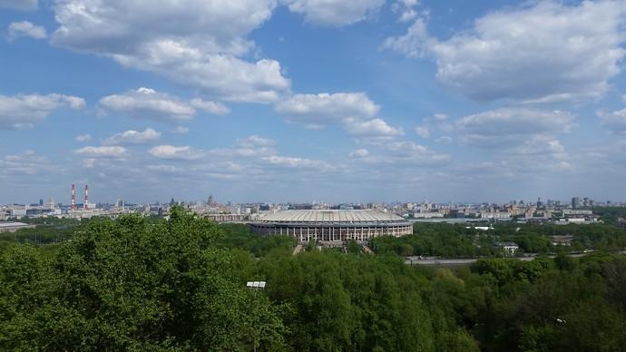 Estádio Luzhniki na Rússia (Foto: Eduardo Peixoto/GloboEsporte.com)
