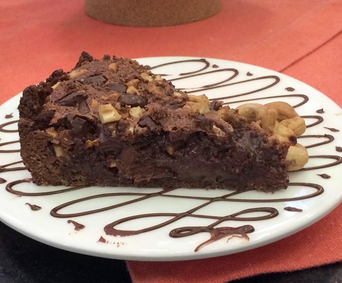 Torta de Chocolate com Creme de Avelã (Foto: Mais Você/Gshow)