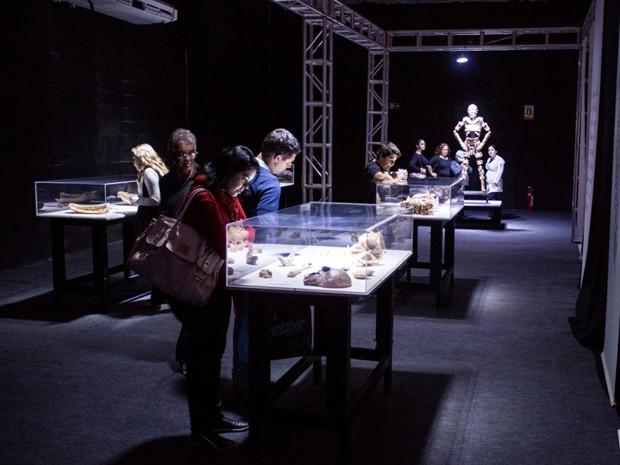 Órgãos em exposição na mostra Human Bodies (Foto: Divulgação/Diego Migotto)