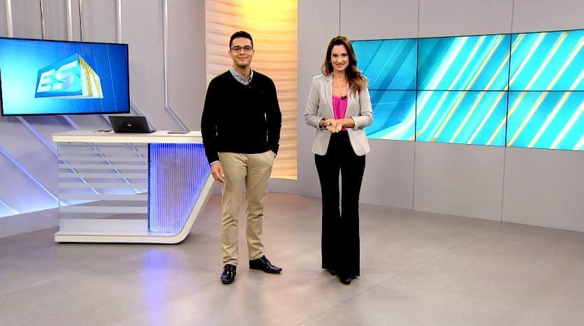 Apresentadores do telejornal ESTV 1ª Edição (Foto: Divulgação/ TV Gazeta)