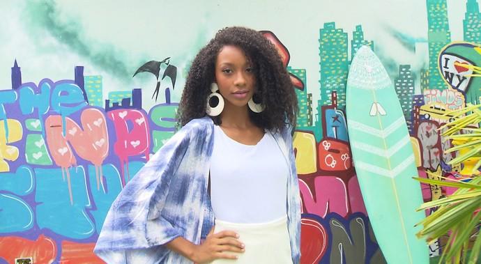 'Expresso da Moda' mostra a tendência dos maxibrincos (Foto: TV Bahia)