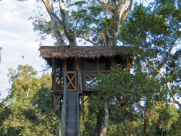 Casa na árvore do Hotel Inkaterra, no Peru (Foto: Divulgação/Inkaterra)