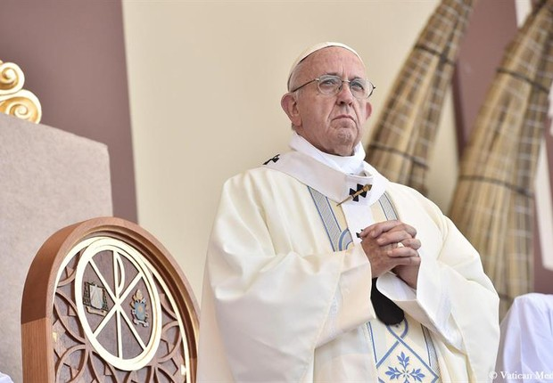 Papa em visita ao Peru (Foto: EFE/EPA/PRESS OFFICE / VATICAN CITY / HANDOUT HANDOUT EDITORIAL USE ONLY/NO SALES)