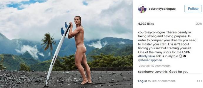 Courtney Conlogue tirou as roupas para ensaio fotográfico (Foto: Reprodução/Instagram Courtney Conlogue)