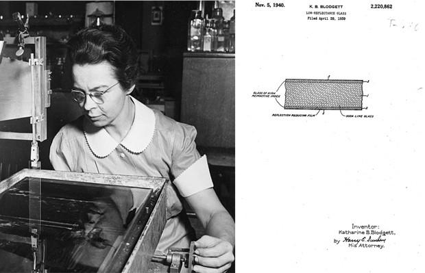 Katharine Burr Blodgett revolucionou a ciência e o cinema ao criar o 'vidro invisível' (Foto: Wikimedia Commons, Google Patents)