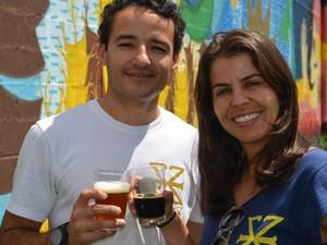 Casal investe na produção de cervejas artesanais em fábrica na zona rural de Paraisópolis (Foto: Lucas Soares/G1)