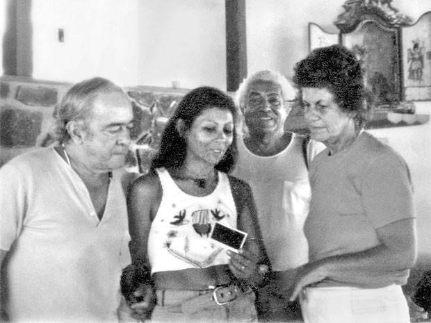 Vinícius de Moraes, Gessy Gesse, Doriva Caymmi, Stella Maris (Foto: Acervo Pessoal)