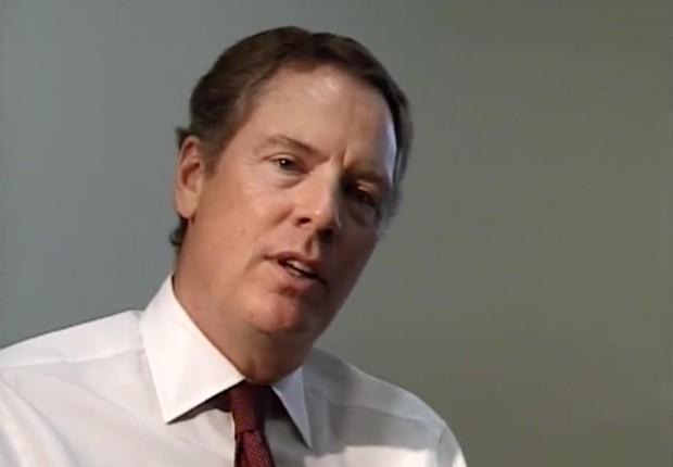 O advogado americano Robert Lighthizer passa a integrar a equipe de Donald Trump (Foto: Reprodução/YouTube)