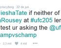Cyborg desafia Miesha Tate e sugere luta em Nova York, no UFC 205