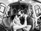 Henri Castelli aparece beijando a namorada em post romântico