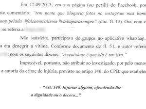 Delegada indicia por injúria suspeito de divulgar vídeos em Goiânia, Goiás (Foto: Darlene Liberato/ Arquivo Pessoal)