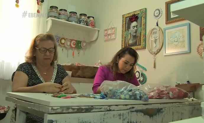 Mãe e filha trabalham juntas em empreendimento milagroso (Foto: Luana Daubian)