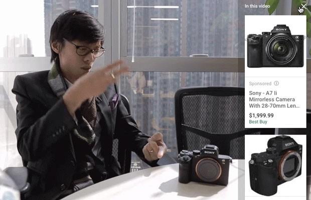 YouTube, plataforma de vídeos do Google, mostrará anúncios de produtos no meio de vídeos. (Foto: Reprodução/Google)