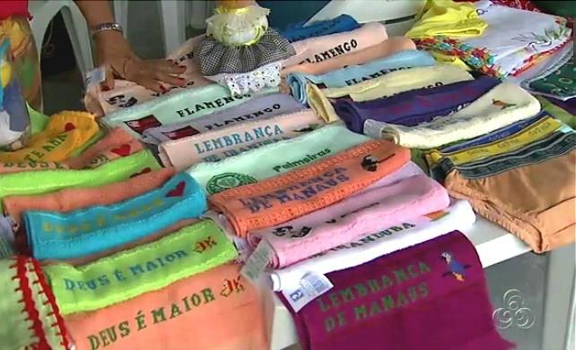 Os visitantes podem comprar e presentear as suas mães (Foto: Amazônia TV)