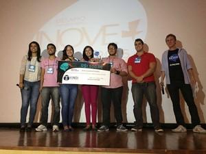 O terceiro lugar do Desafio Inove+ ficou com a equipe OrtoEco (Foto: Divulgação)