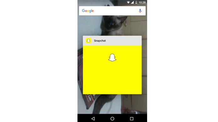 Reiniciar aplicativo pode corrigir problemas de execução (Foto: Reprodução/Snapchat)