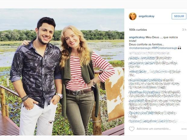 Angélica publica foto em homenagem ao Cristiano Araújo (Foto: Reprodução/Instagram)