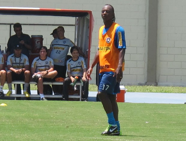 Andrezinho no treino do Botafogo (Foto: Thales Soares)