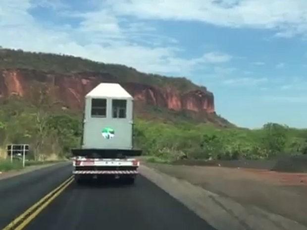 Elefantas saíram de Minas Gerais e chegaram em Mato Grosso nesta terça-feira (11) (Foto: Divulgação)
