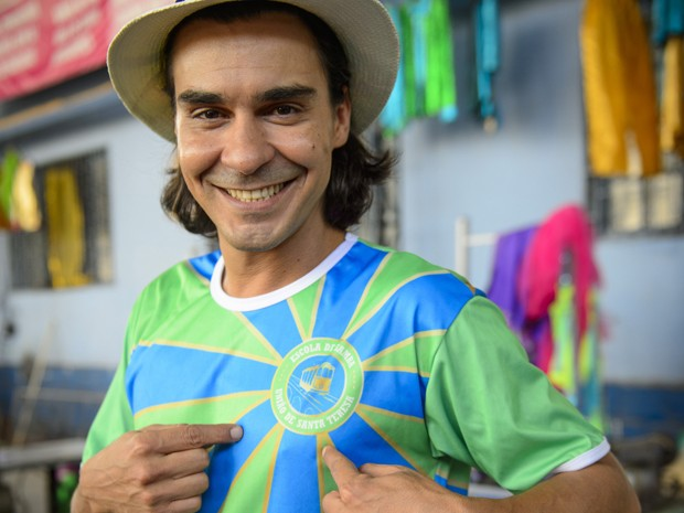 André encarna ritimista da União de Santa Teresa (Foto: Alex Carvalho/TV Globo)