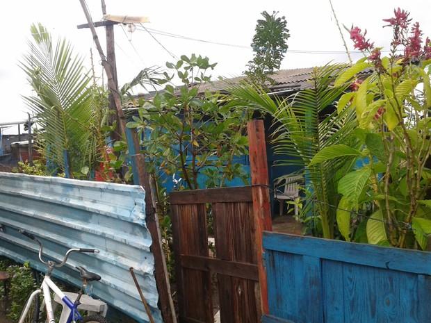 Casa onde criança foi morta pelo irmão, em Jaqboatão dos Guararapes, no Grande Recife (Foto: Danilo Cesar/ TV Globo)