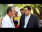 Renato Bravo conversa com eleitores no Hospital Raul Sertã, em Friburgo