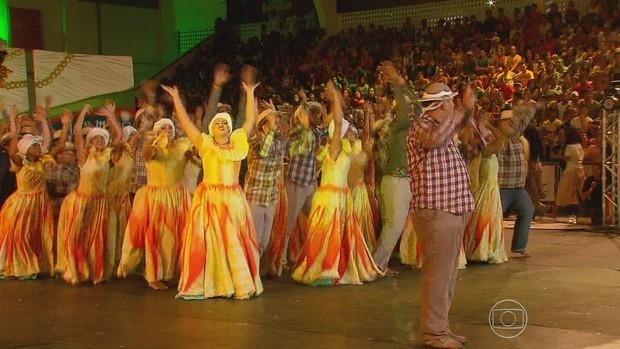 Quadrilha de Alagoas vence etapa regional de festival  (Reprodução/TV Globo)