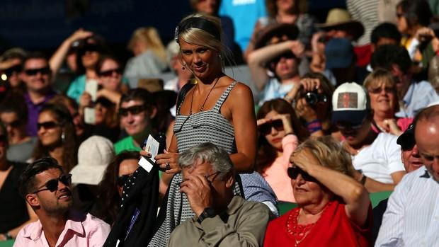 Bec Hewitt, esposa de Lleyton Hewitt no Aberto da Austrália (Foto: Getty Images)