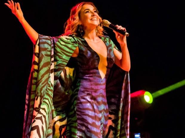 Daniela Mercury se apresenta em edição do 'Domingo no TCA', em Salvador (Foto: Celia Santos/ Divulgação TCA)