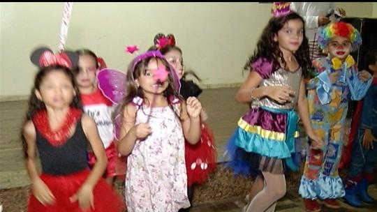 Folias destinadas às crianças marcam o Carnaval em Januária e Bocaiuva