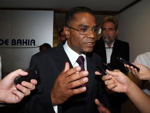 Candidato Márcio Marinho foi o penúltimo a sair da TV (Foto: Egi Santana/G1)