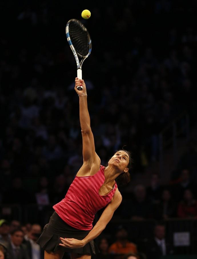 tenis Gabriela Sabatini x monica seles jogo exibição nova york (Foto: Getty Images)