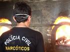 Polícia Civil incinera 560 kg de drogas em Aquiraz, no Ceará