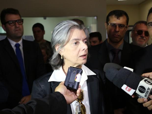 Ministra Cármen Lúcia, presidente do Supremo Tribunal Federal (Foto: Marcelino Neto)
