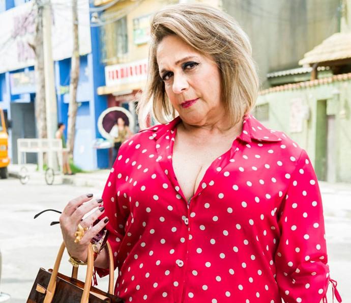 Fafy Siqueira interpreta mãe de Fran em segunda temporada de 'Chapa Quente' (Foto: João Miguel Júnior/Globo)